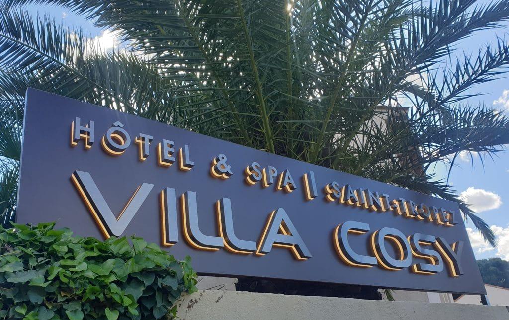 Enseigne Métallique : Villa Cosy